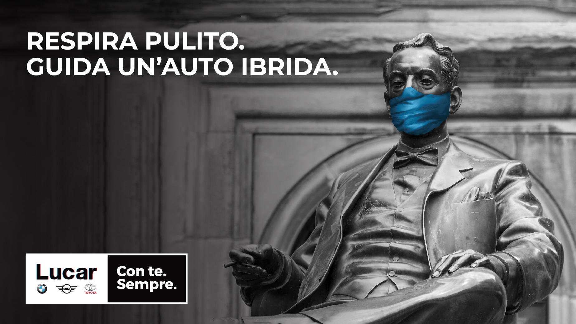 Campagna di sensibilizzazione all'utilizzo della auto ibride promossa per Lucar 2019
