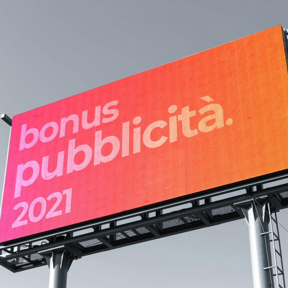 cartellone pubblicitario. Bonus pubblicità 2021