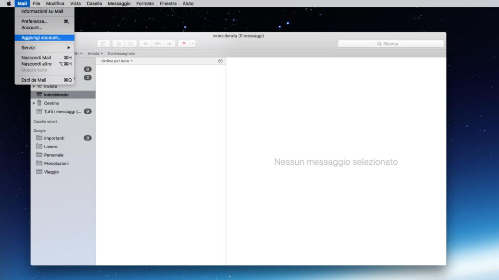 Configurare la casella di posta su MacOS parte 1