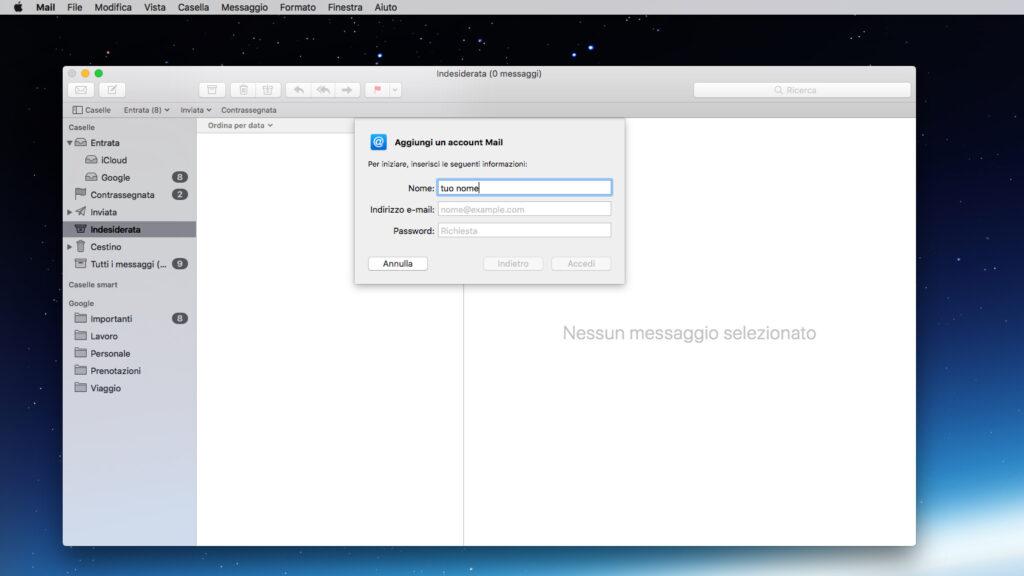 Configurare la casella di posta su MacOS parte 2